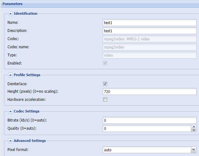 tvheadend missing advanced stream profiles - PVR & DVB