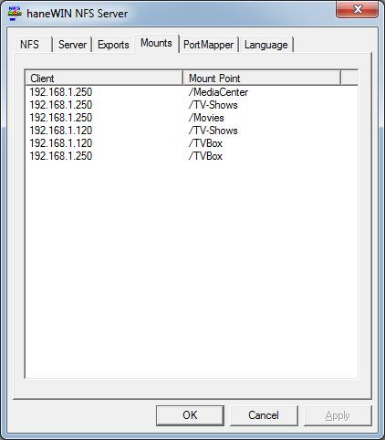 DIY - setup NFS File Sharing on Windows Computers - Amlogic